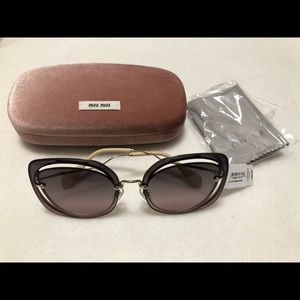 MIU MIU SMU 54S Scenique Cut Out Sunglasses w/ Cas